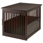 Richell End Table Wood Dog Crate - Large