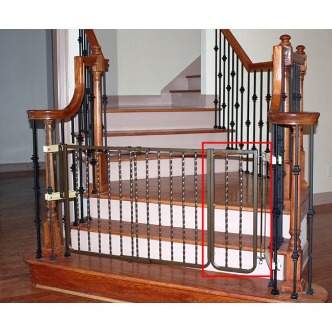 Wrought iron decor dog gate extension for Iron gate motor condos for sale
