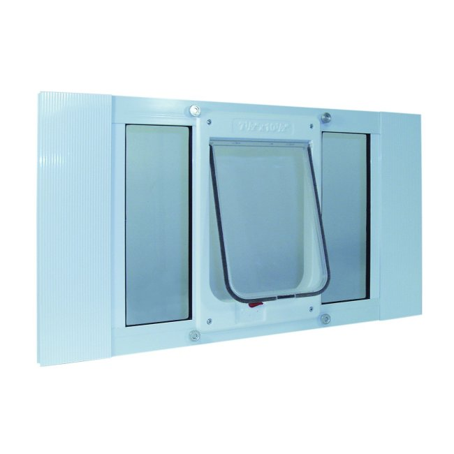 Ideal pet aluminum sash window chubby kat door for Ideal windows and doors