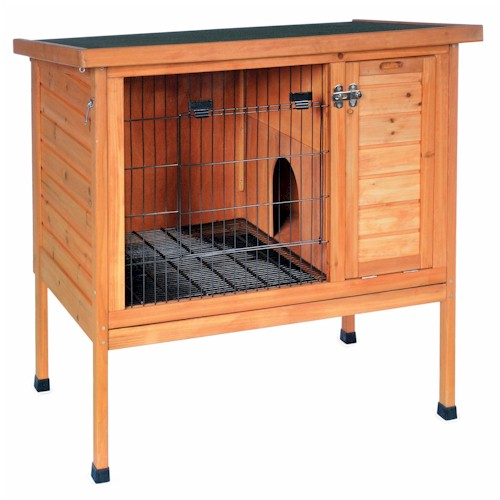 Prevue pet products small rabbit hutch 460 for Free guinea pig hutch