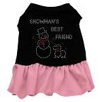 Snowman's Best Friend Rhinestone Dress