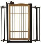 Bamboo One Touch Pet Gate