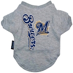 Milwaukee Brewers Dog Tee Shirt