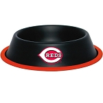 Cincinnati Reds Stainless Dog Bowl