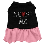 Adopt Me Rhinestone Dog Dress - Pink