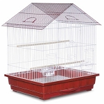 Offset Roof Parakeet Cage