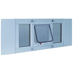 Ideal Pet Aluminum Sash Window Cat Flap For 23 to 28 Inch Windows