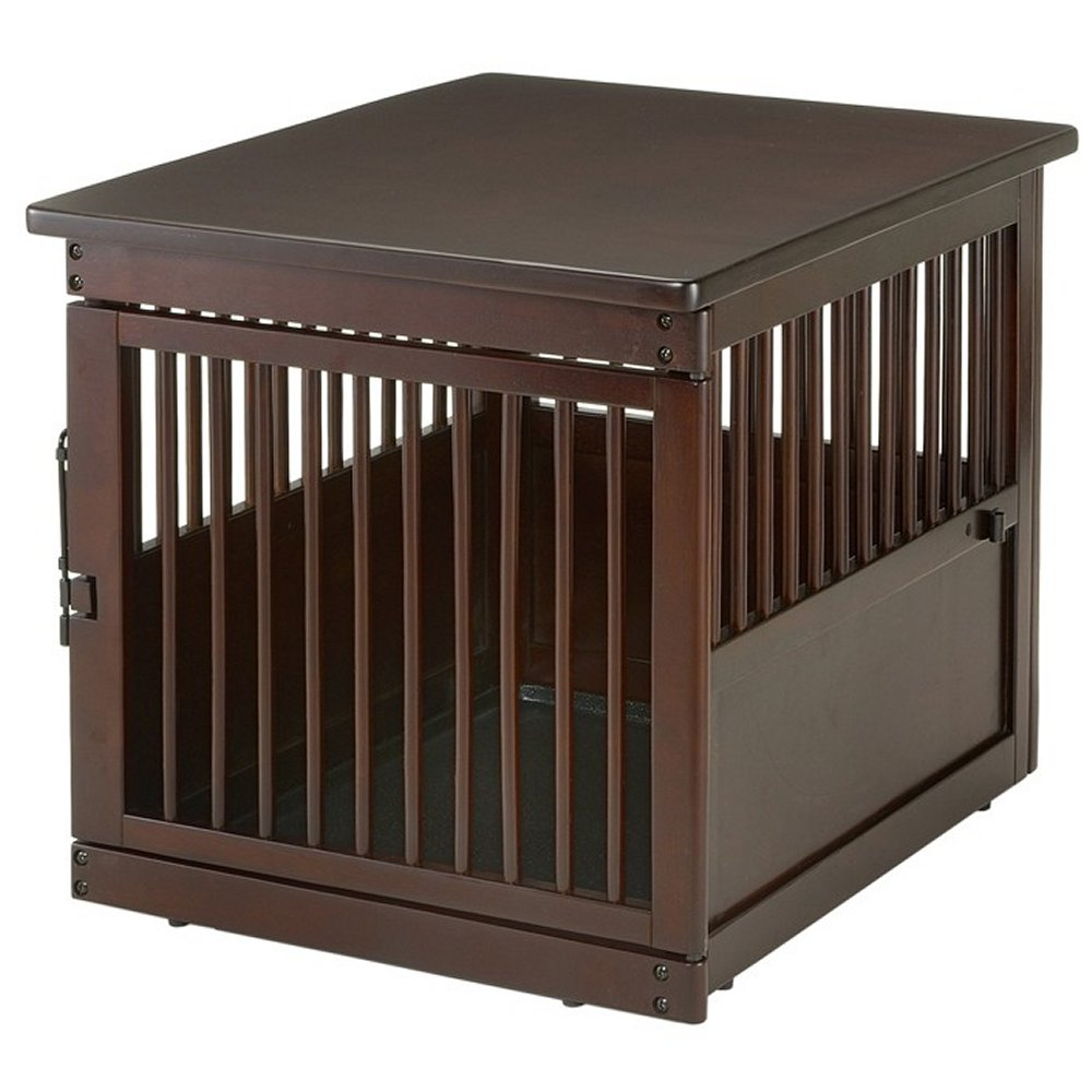 Richell medium wooden end table dog crate radiofence
