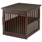 Richell End Table Wood Dog Crate - Medium