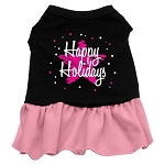 Scribble Happy Holidays Dress