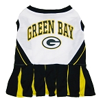 Green Bay Packers NFL Cheerleader Outfit for Dogs
