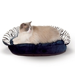 Plush Bolster Sleeper Pet Bed - Zebra Print