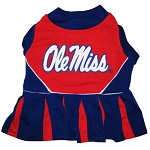 Ole Miss Cheerleader Outfit for Dogs