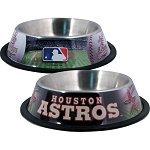 Houston Astros Stainless Dog Bowl