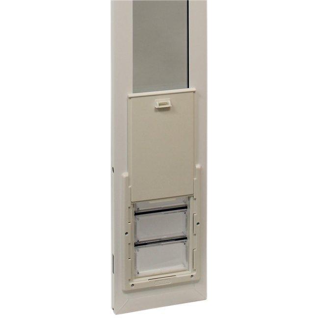 Ideal pet vip vinyl insulated 78 inch pet patio door for Ideal dog door