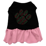 Christmas Paw Rhinestone Dress
