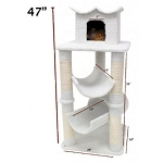 47 Inch Bungalow Cat Tree