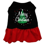 Scribble Merry Christmas Dress