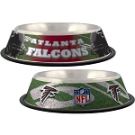 Atlanta Falcons Stainless Dog Bowl
