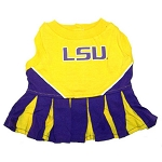 LSU Tigers Cheerleader Outfit for Dogs