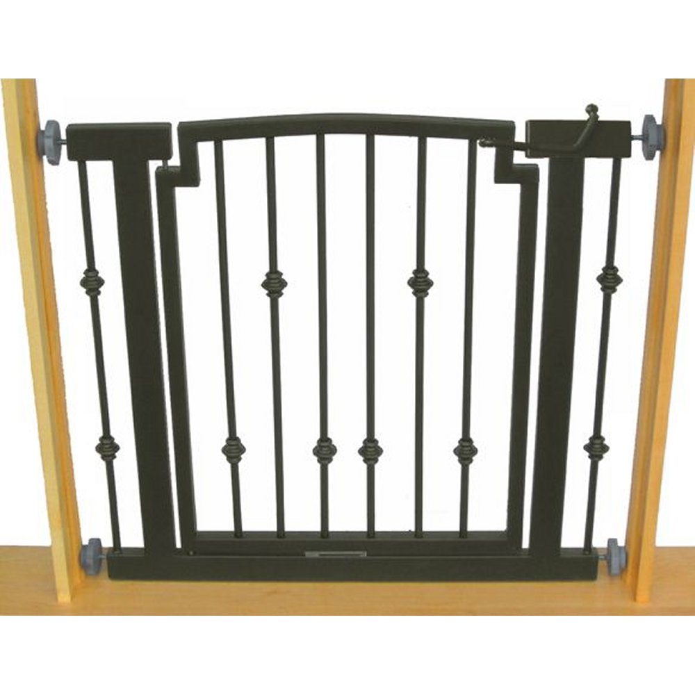Petstop emperor rings hallway dog gate pressure mount pet for Iron gate motor condos for sale