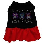Let it Snow Penguins Rhinestone Dress