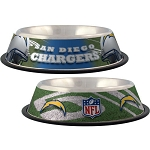 San Diego Chargers Stainless Dog Bowl