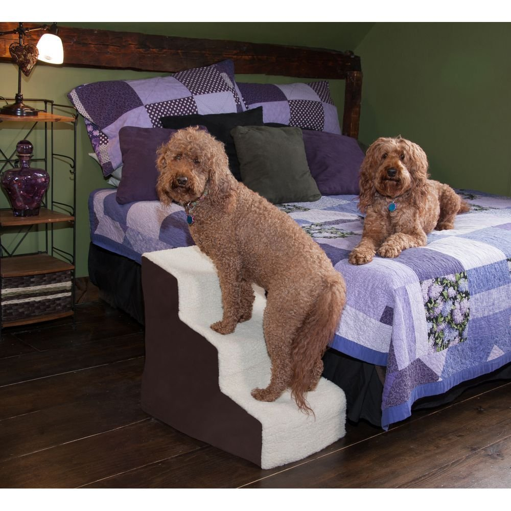 Captivating Pet Gear Easy Step III Deluxe Soft Pet Stairs
