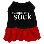 Vampires Suck Dog Dress - Red
