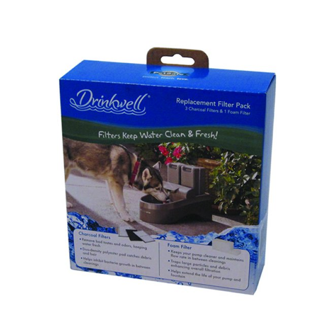 Drinkwell outdoor dog fountain replacement filters for Garden fountain filters