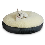 Large Round Sherpa Top Dog Bed