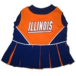 Illinois Fighting Illini Cheerleader Outfit for Dogs
