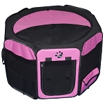 Travel Lite Soft-Sided Pet Pen in Pink