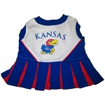 Kansas Jayhawks Cheerleader Outfit for Dogs