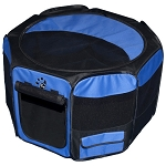 Travel Lite Soft-Sided Pet Pen in Ocean Blue