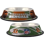 Cincinnati Bengals Stainless Dog Bowl