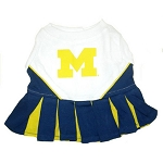 University of Michigan Cheerleader Outfit for Dogs