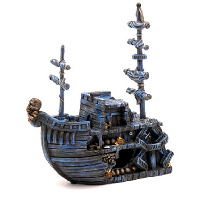Pirate Treasure Ship Bow Aquarium Decoration