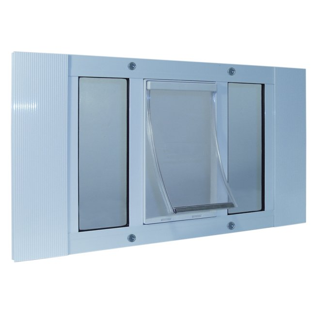 The ideal sash window pet door for 23 to 28 inch windows for Ideal windows and doors