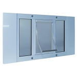 Ideal Pet Aluminum Sash Window Pet Door For 23 to 28 Inch Windows