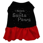 Santa Paws Rhinestone Dress
