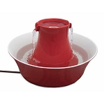Drinkwell Red Avalon Stoneware Pet Fountain