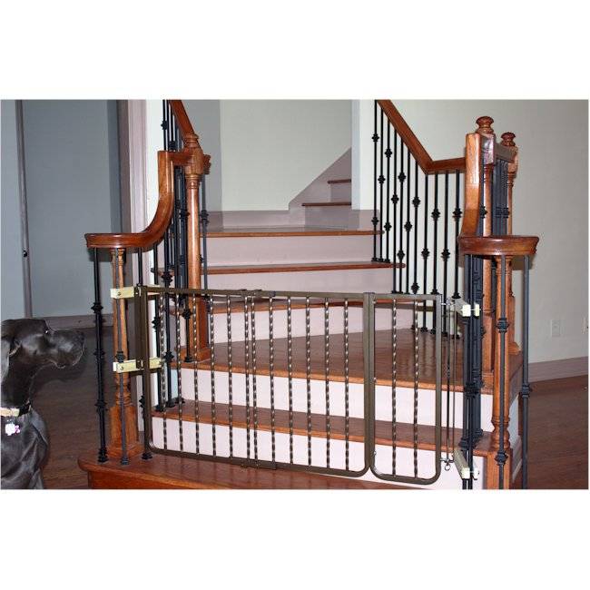 Wrought iron decor dog gate free shipping for Iron gate motor condos for sale