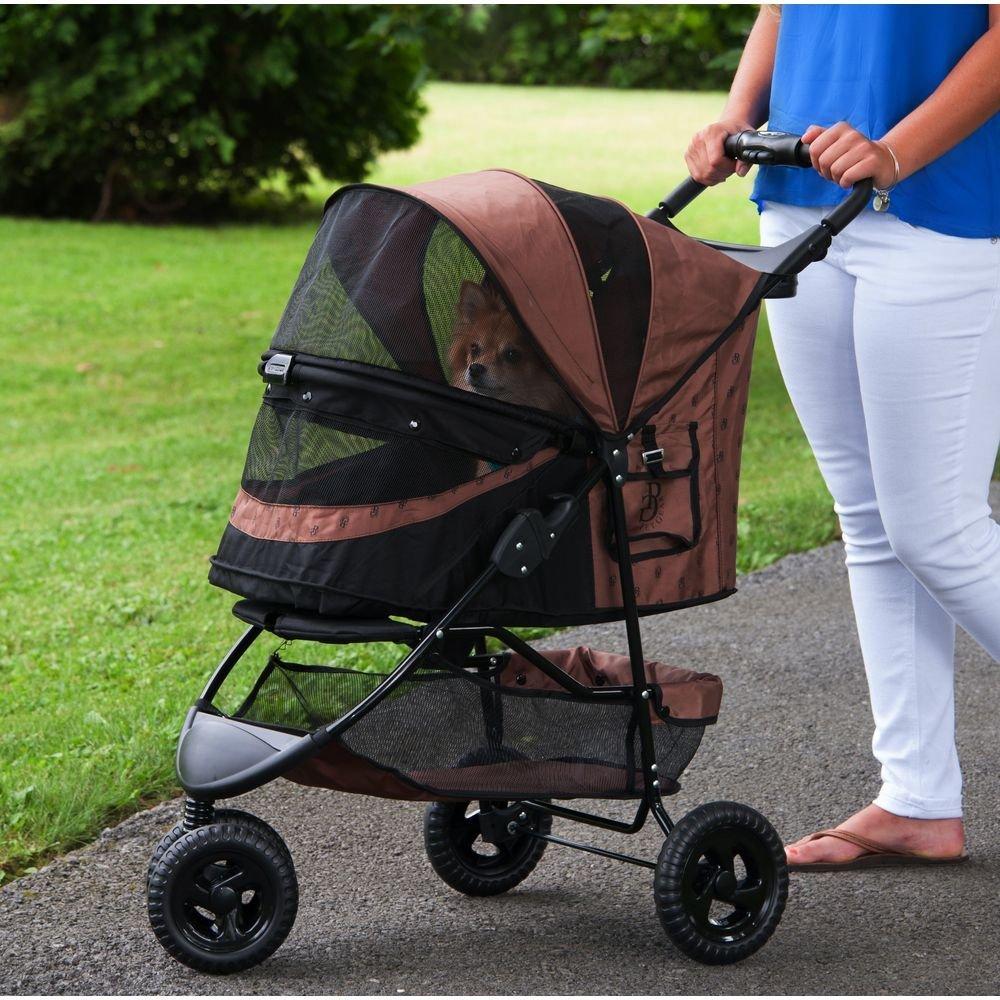 Petbobi Old Dog Bag Four Wheel Pet Stroller Dog Pushchair
