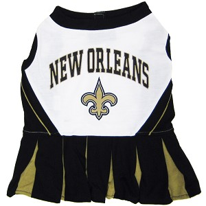 New Orleans Saints NFL Cheerleader Outfit for Dogs