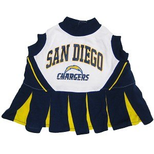 San Diego Chargers NFL Cheerleader Outfit for Dogs