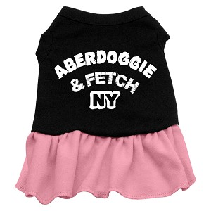 Aberdoggie NY Dog Dress - Pink