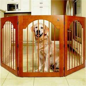 Freestanding Wood Dog Gate
