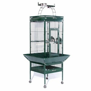 Small Wrought Iron Select Bird Cage in Jade Green