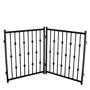 Emperor rings 2 pc freestanding gate for Iron gate motor condos for sale